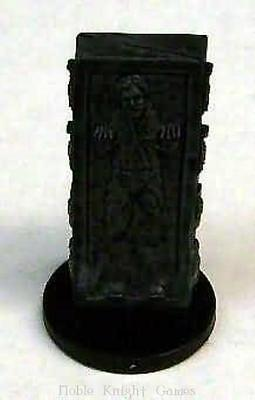 WOTC Star Wars Minis Force Unleashed Han Solo in Carbonite SW