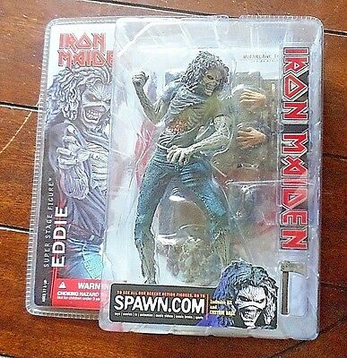 New Iron Maiden EDDIE Super Stage Action Figure! Includes Ax and Custom Base!