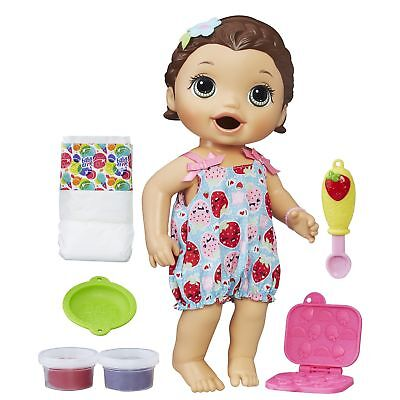 Baby Alive Super Snacks Snackin' Lily Blonde Doll w Accessories. Free Shipping