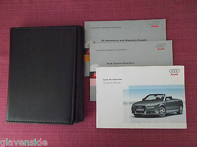 Audi A4 Cabriolet / Convertible Owners Manual - Owners Guide - Handbook (Au 485)