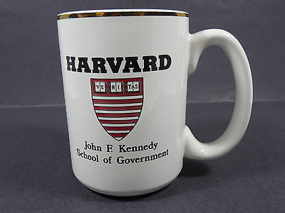 Vintage Harvard University John F. Kennedy School Government Ceramic Coffee Mug
