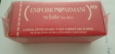 Emporio Armani Red White for him 100ml 3.4oz EDT Spray Perfume Rare Discontinued