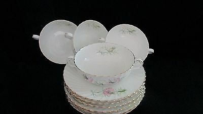 Adderly Fine Bone China Love In The Mist Pattern 4 Cream Soup Bowls