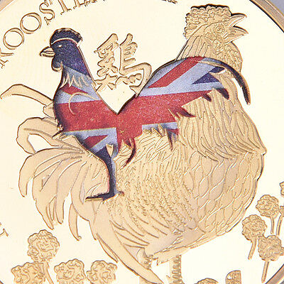 """Lunar Year of the Rooster"" Gold Color Commemorative Coins"