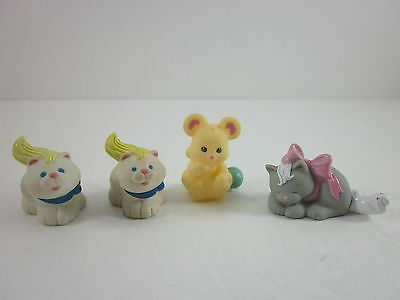 Fisher Price Loving Family Dollhouse Cat Mouse Cats Pet Lot of 4 Animals