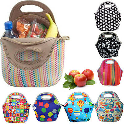 Thermal Cooler Insulated Lunch Bag Picnic Carry Neoprene Tote Storage Bag Pouch