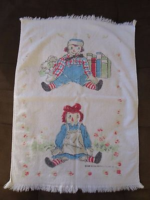 Raggedy Ann and Andy Vintage Towel 1960's