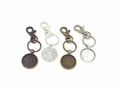 1 inch circle pendant trays key chains in your choice of color