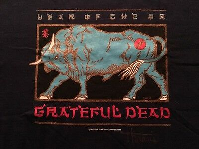 Grateful Dead VTG T-Shirt Chinese New Year 1985 Never Worn/Washed XL Autographed