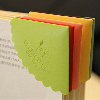 6pcs PU leather bookmarks Creative Candy Colored Beard Lace book marker Personal