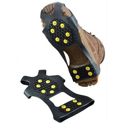 New 10 Steel Studs Ice Snow Traction Cleat in Winter Prevent Slipping S-XL Size