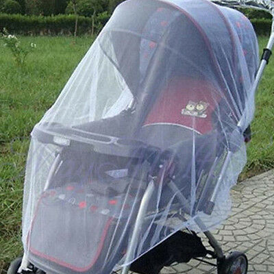 Latest Infants Baby Stroller Pushchair Mosquito Insect Net Safe Mesh Cover