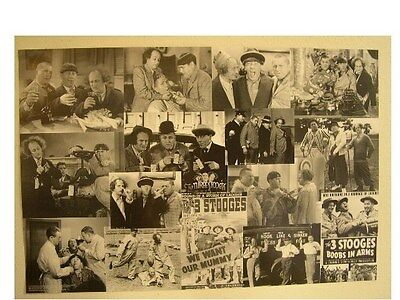 The Three Stooges Poster Collage Larry 3 Commercial