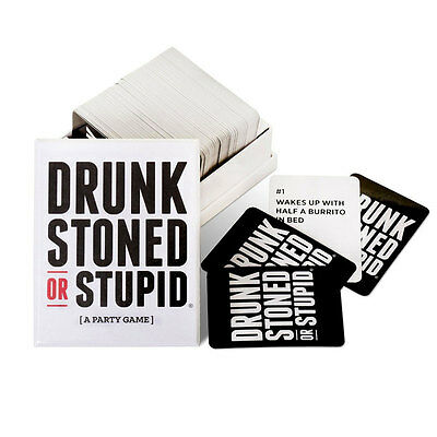 DRUNK STONED OR STUPID Toys Family Funny Entertainment Board Game Cards Puzzle