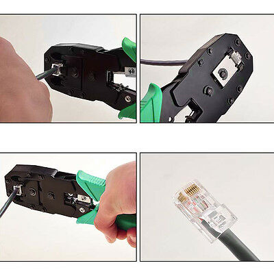 Network RJ45 CAT5 RJ11 RJ12 LAN Cable Wire Crimper Crimp Plier Strip Tool Y#