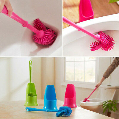 Creative Multi Directions Toilet Brush Washing Room Groove Cleaner Brush Y#