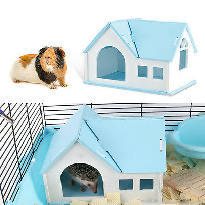 Pet Small Animal Rat Mouse Hamster Wooden Sleeping Cage Nest House Play Toy