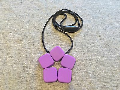 Silicone Sensory Baby (was teething) Necklace for Mum Jewellery Flower Purple Au