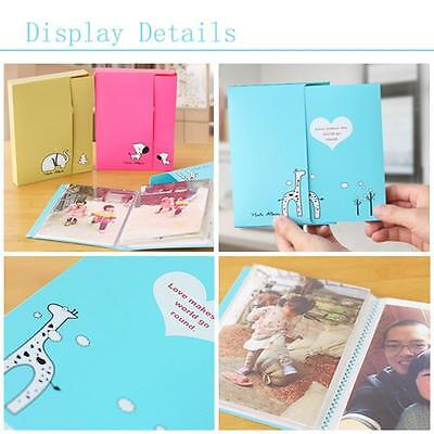 20 Pages Interstitial Style Cartoon Animals Printed Photo Album for Baby Kids FW