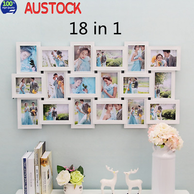 18 in 1 Collage Multi Photo Frames Picture Display Wall Hanging Decor Gifts