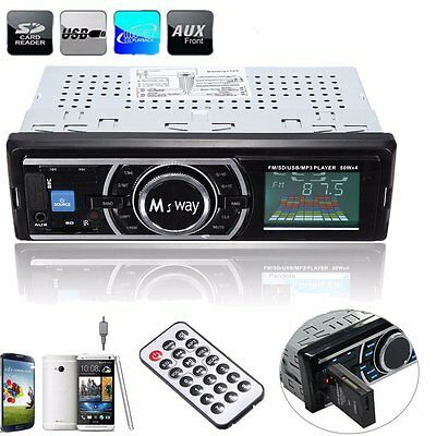 Car Stereo Audio 1 DIN In-Dash Aux Input FM Receiver SD USB MP3 WMA Radio Player