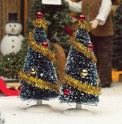 Two Decorated Christmas Trees, Doll House Miniature. 1.12 Scale