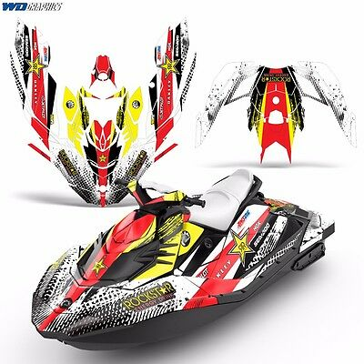 Decal Graphic Kit Wrap Jetski Rotax 900 Bombardier Parts Sea-Doo 2up Spark 2015+