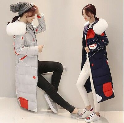2016 New Winter Women down coat thick removable white printing Parka women