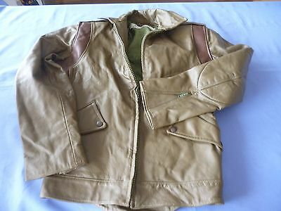 Leather Motorcycle Policemans Jacket