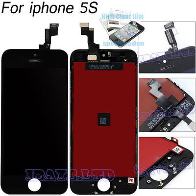Replacement For iPhone 5S Black LCD Digitizer Touch Screen Display Assembly UK