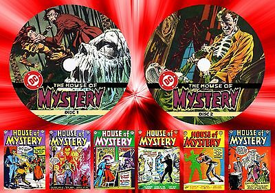 House Of Mystery Comics (1-321) On Two Printed Dvd Rom's
