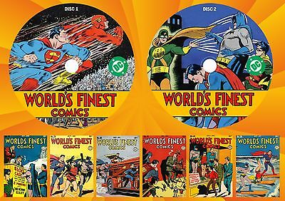 Golden Age World's Finest Comics (1-280) On Two Printed Dvd's