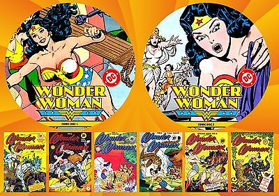 Golden Age Wonder Woman Comics (1-329) Complete On Two Printed Dvd Rom's