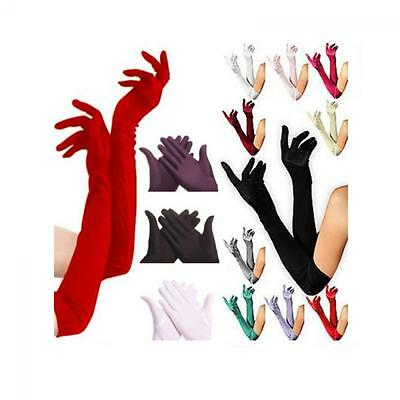 Bridal Evening Party Opera Satin Gloves Long Prom Costume