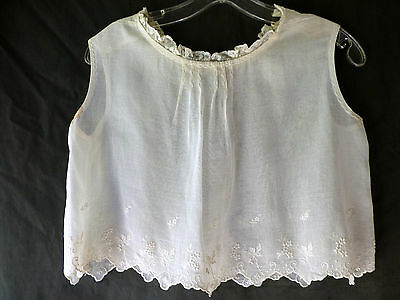 womens VTG Antique Victorian Underwear Bralette Camisole Under Blouse cotton