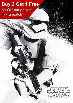 Star Wars Storm Trooper Poster A5 A4 A3 A2 A1