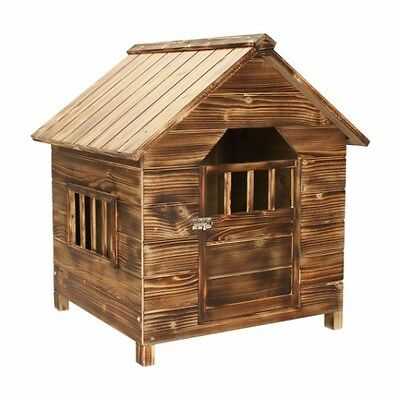 Wooden Small Dog Kennel Outdoor Shelter Doghouse Den Solid Pet Home Cabin Hutch