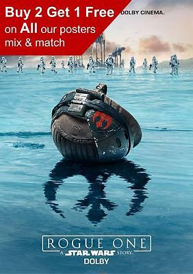 Star Wars Rogue One Dolby Cinema Poster A5 A4 A3 A2 A1