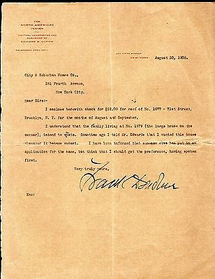 Very Rare! Edward S. Curtis 1908 Letterhead ~ North American Indian