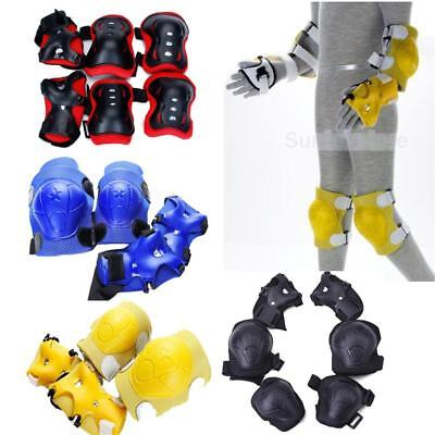 6x Safety Knee Elbow Wrist Guard Protective Pad for Kids Cycling Roller Skating
