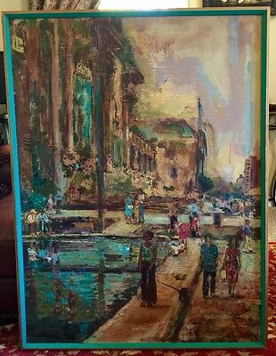 Laverne Ray Fromberg Encaustic Painting Metropolitan Museum Art NY NY Huge