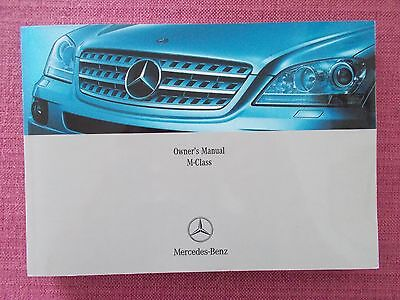 Mercedes-Benz M-Class (Ml) Owners Manual - Owners Guide - Handbook. (Me 267)