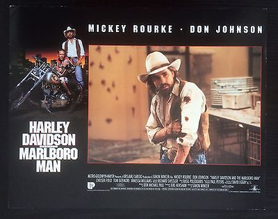 Harley Davidson And The Marlboro Man - Film Lobby Poster Set - 2 Posters
