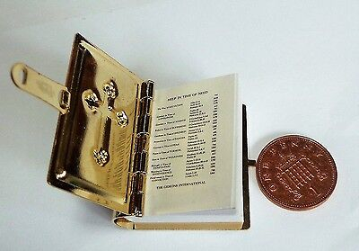 1:12 Scale Large Opening Metal Cover Bible Doll House Miniature Church Accessory