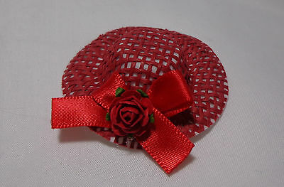 1:12 Scale   Ladies Hat (Red) Dolls House Miniature