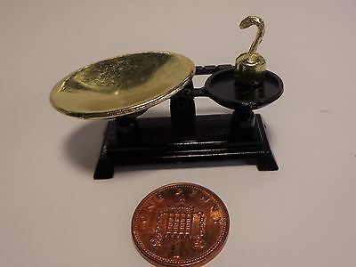1:12 Scale,Black Weighing Scales Dolls House Miniatures,  Kitchen Accessory
