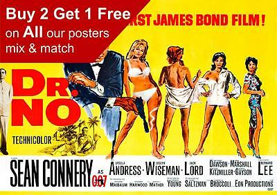 James Bond 007 Dr No Movie Poster A5 A4 A3 A2 A1