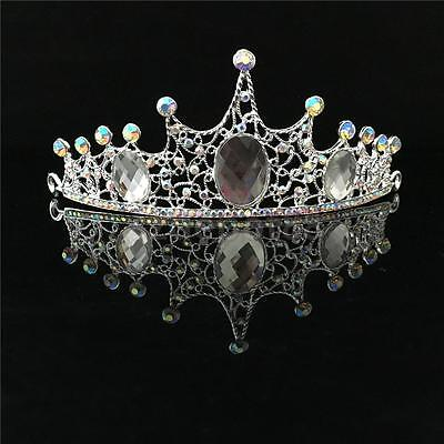 Wedding Bridal Princess Crystal Tiara Prom Hair Crown Veil Headband Pageant