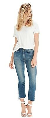 """MOTHER Denim """"The Insider"""" Crop Step Fray """"Not Rough Enough"""" 27 28 29 BNWT!!"""