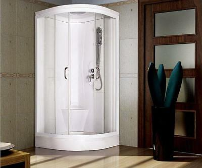 900x900 / 800 Quad All in One Pod Shower Cubicle Cabin Tray Walls No Electrics